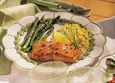 Grilled Salmon with Honey-Soy Marinade