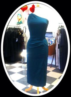 One sholder cocktail dress in teal from 20th Century Foxy <3 Mondo Kaos