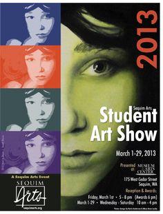student art show poster