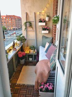 Small balcony ideas, balcony ideas apartment, cozy balcony design, outdoor balcony, balcony ideas on a budget Small Balcony Decor, Balcony Ideas, Balcony Decoration, Balcony Plants, Small Patio, Balcony Gardening, Decor For Small Spaces, Narrow Balcony, Apartment Balcony Garden