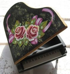 トールペイント ピアノ decorative painting pintura decorativa piano