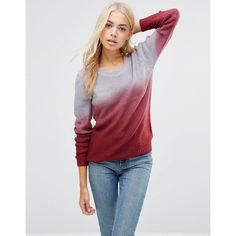 QED London - Pullover in Ombré - Rot
