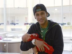 Neymar and his son Davi Lucca.