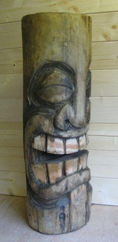 Carved tiki by www.kustomtiki.co.uk  ( I really like the finish)