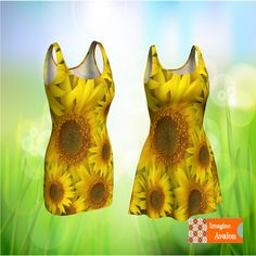 Sunflower Dress, Flower Dress, Yellow Dress, Bright Dress, Spring Dress, Summer Dress, Fun Dress by ImagineAvalon on Etsy Flower Dresses, Nice Dresses, Summer Dresses, Bright Dress, Yellow Dress, Sunflower Dress, Cool Outfits, My Etsy Shop, Trending Outfits