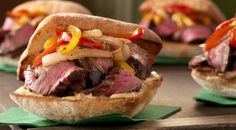 Check out this delicious recipe for Balsamic-Marinated Flank Steak Sandwiches with Peppers and Onions from Weber—the world's number one authority in grilling.