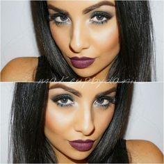 Skin tone + dark lips= Perfection