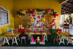 decoração de festa infantil de magali