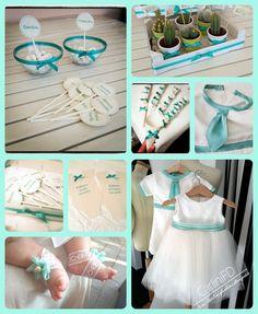Battesimo tiffany - vestito, confettata, bomboniere vasetto pianta, guest book body - carlinifd