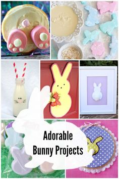 Adorable DIY bunny projects - great projects for Easter