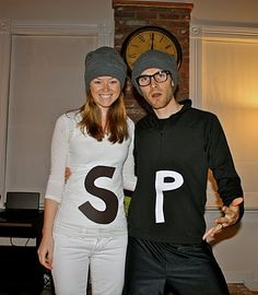 Salt and Pepper couples costumes for Halloween. This looks dead easy!