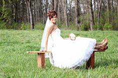 Bridal picture with boots!