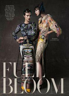 """""""Full Bloom"""" by Steven Chee for Harper's Bazaar Australia December 2015"""