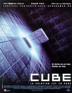 "Cube - Ahhh! I happened upon this movie on an insomnia night...can we say ""didn't sleep for the rest of the day"" either lol Just total mind f#ck! lol"