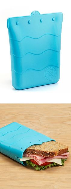 Silicon sandwich bag - great reusable alternative to plastic bags. BPA…