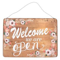 Open/Close Pretty Sign - Something Different Wholesale