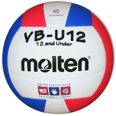 Molten Youth VBU12 Indoor Volleyball, Red