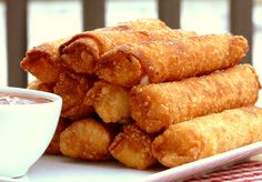 Fried Mozzarella-Pepperoni Sticks ~