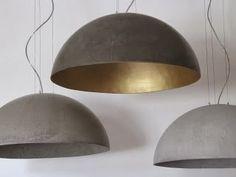 Betonnen industriële lampen - industriële woonaccessoires