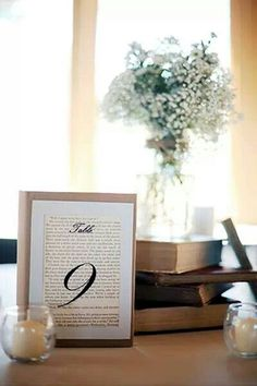 Bible verse behind table number