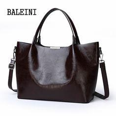 Summer women bag handbag tote over shoulder crossbody leather big black brown casual bolsas