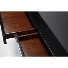 Cuboid Desk - Lacquer/Brass by Scala Luxury