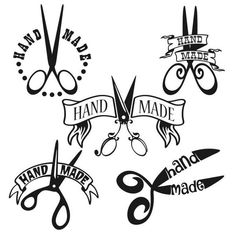 Hand Made Crafters Scissors Decal Cuttable Design SVG, DXF, EPS use with Silhouette Studio & Cricut, Vector Art, Vinyl Digital Cut Files Machine Silhouette Portrait, Plotter Silhouette Cameo, Silhouette Cameo Projects, Silhouette Design, Dog Silhouette, Silhouette Studio, Machine Embroidery, Apex Embroidery, Embroidery Designs