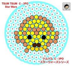 C3PO - Star Wars ''Tsum Tsum'' Perler Bead Pattern