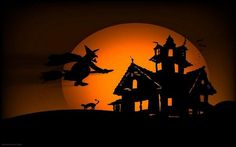 Amazing Halloween wallpapers are here to spice up and refresh your desktop on the eve of the coolest holiday. Besides Halloween ico. Retro Halloween, Halloween Chat Noir, Photo Halloween, Fröhliches Halloween, Funny Halloween Costumes, Halloween Cards, Holidays Halloween, Halloween Decorations, Halloween Quotes