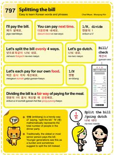 Easy to Learn Korean 797-Splitting the Bill