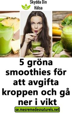 Healthy Drinks, Healthy Recipes, Probiotic Foods, Yummy Smoothies, Fika, How To Slim Down, Loose Weight, Cucumber, Feel Good