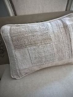 Image of Coussin Patch en chanvre {CPCH4030}