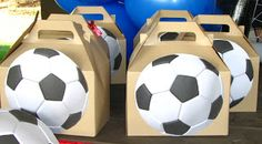 Awesome soccer party decorations with barcelona party decorations . Soccer Party Favors, Soccer Birthday Parties, Party Favours, 9th Birthday, Barcelona Party, Barcelona Soccer, Kids Soccer, Soccer Ball, Soccer Banquet