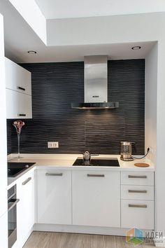 Черно-белая кухня, стильные кухни фото