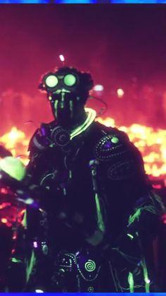 Techno Shaman. Burning Man 2014. Caravansary.  INSTAGRAM: @Progenitor_Tech   #Techno #technoshaman #shaman #mystical #cyber #cybertech #enki #technological #future #futureprimitive #ancient #progenitor #progenitortech #uv #uvreactive #blacklight #led #lighting #glow #glowinthedark #facepaint #warpaint #cybernetic #sacred #ancientalien #burningman #burningman2014 #caravansary #burn #manburn  #goggles #alien #warrior #guardian #templeguardian