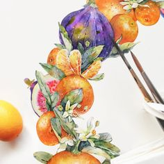 Tangerines and figs in progress