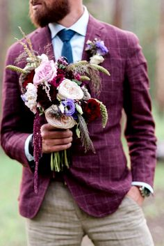 30 The Most Popular Groom Suits ❤ See more: http://www.weddingforward.com/groom-suits/ #weddings