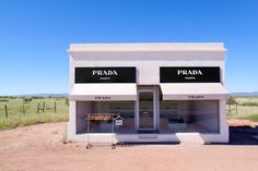 In celebration of our limited time Prada Marfa sale, Gray Malin is listing the top 3 reasons why you should make a stop in Marfa, Texas on your next roadtrip. Prada Sale, Marfa Texas, Container Shop, Prada Marfa, Feminine Bedroom, Places To Go, Road Trip, Grey, Outdoor Decor