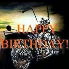 Happy Birthday Harley Davidson, Happy Birthday Biker, Happy Birthday To Him, Birthday Wishes Greetings, Happy Anniversary Wishes, Happy Birthday Celebration, Happy Birthday Wishes Quotes, Birthday Cheers, Happy Birthday Wishes Cards