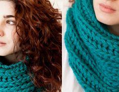 DIY Patrón cuellos de lana