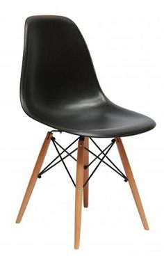 Replica Eames Chair Chair Crazy No price on website 45 Height: 81 Length: 46 Seat height: 45 Black Eames Chair, Vinyl Cafe, Single Chair, Charles & Ray Eames, Cafe Chairs, White Vinyl, Wood, Website, Furniture