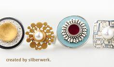 Farbe und Form … #Silber und Gold … #Perlen und Kaltemaille … unsere Frühlingskollektion lädt zum Kombinieren ein: https://www.silberwerk.de/katalog/138-ring-ding-neu