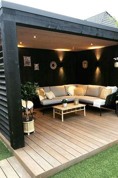 The Metal/Aluminum Patio Designs Poured Concrete, Concrete Pavers, Pergola Patio, Backyard, Cozy Patio, Patio Shade, Aluminum Patio, Outdoor Entertaining, Patio Design