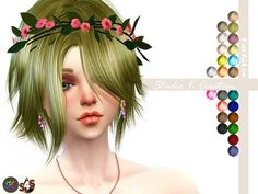 Studio K Creation: Animate hair 51 – Kurosaki for male and female • Sims 4 Downloads