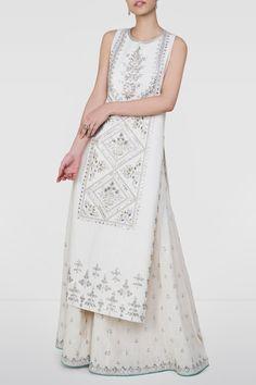 Designer Suits - Buy Ginevra Suit for Women Online - SS19RR005_Cream - Anita Dongre