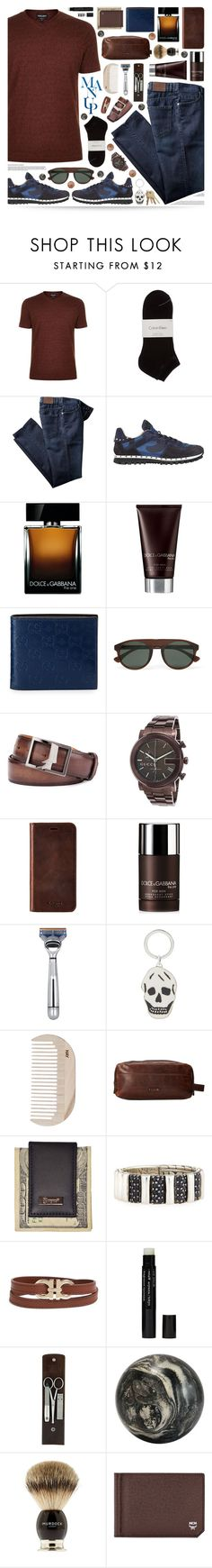 """""""Man Up"""" by ealkhaldi ❤ liked on Polyvore featuring Giorgio Armani, Calvin Klein, Valentino, Dolce&Gabbana, Gucci, Berluti, Knomo, The Art of Shaving, Alexander McQueen and HAY"""
