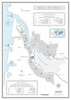A Map Of Bordeaux Wine Regions