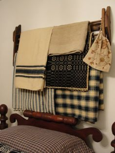Beautiful collection of homespun blankets & coverlets...