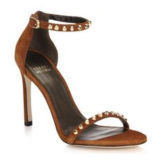 Whatastud nudistsong suede sandals by Stuart Weitzman. EXCLUSIVELY AT SAKS. Radiant goldtone studs trace the straps of the coveted Nudist sister sandal ...
