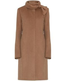 classic Max anc co. camel coat with ribboned neck..me want!!!!